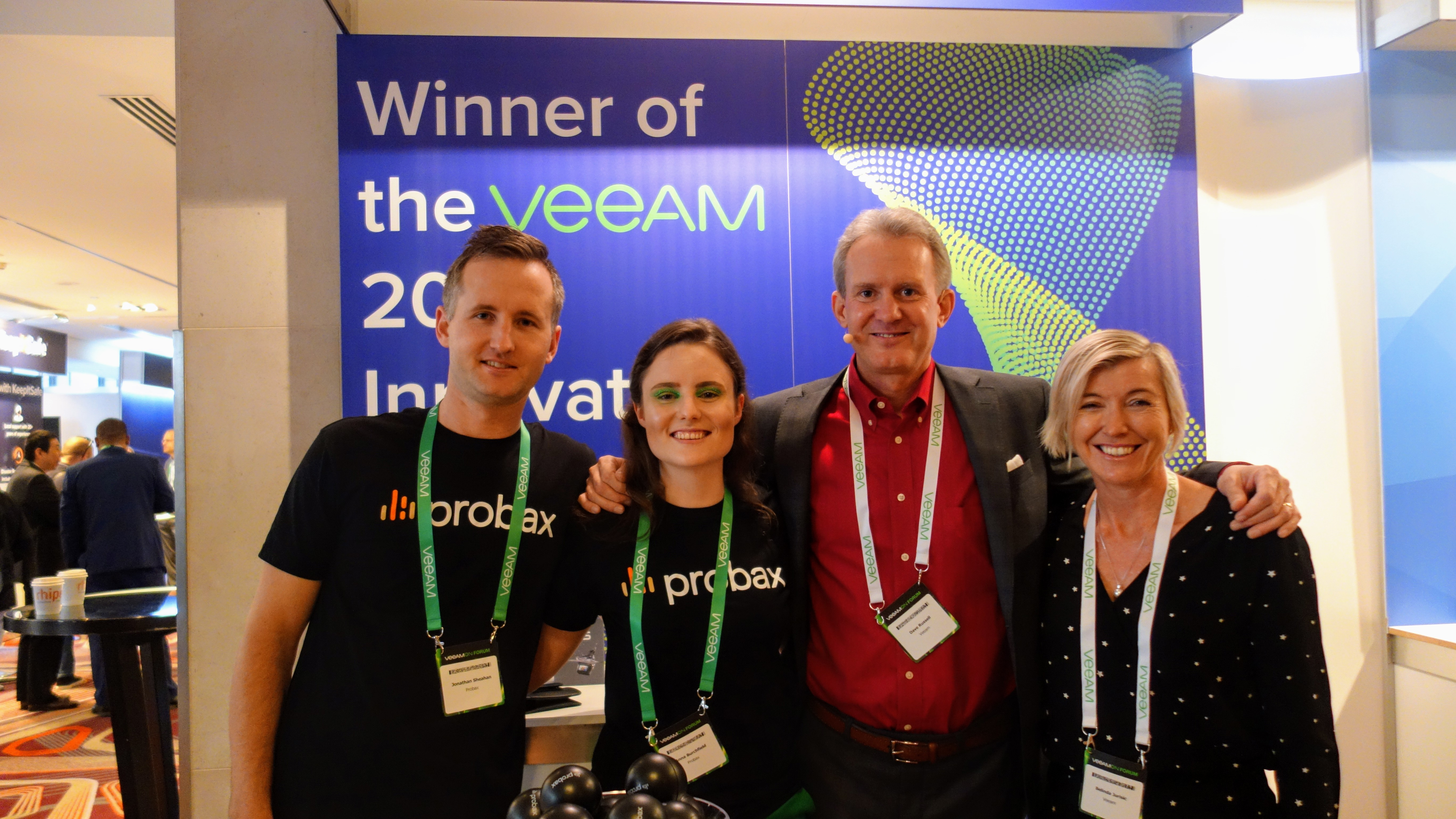 Probax Team with Dave Russell and Belinda Jurisic VeeamON Sydney 2018