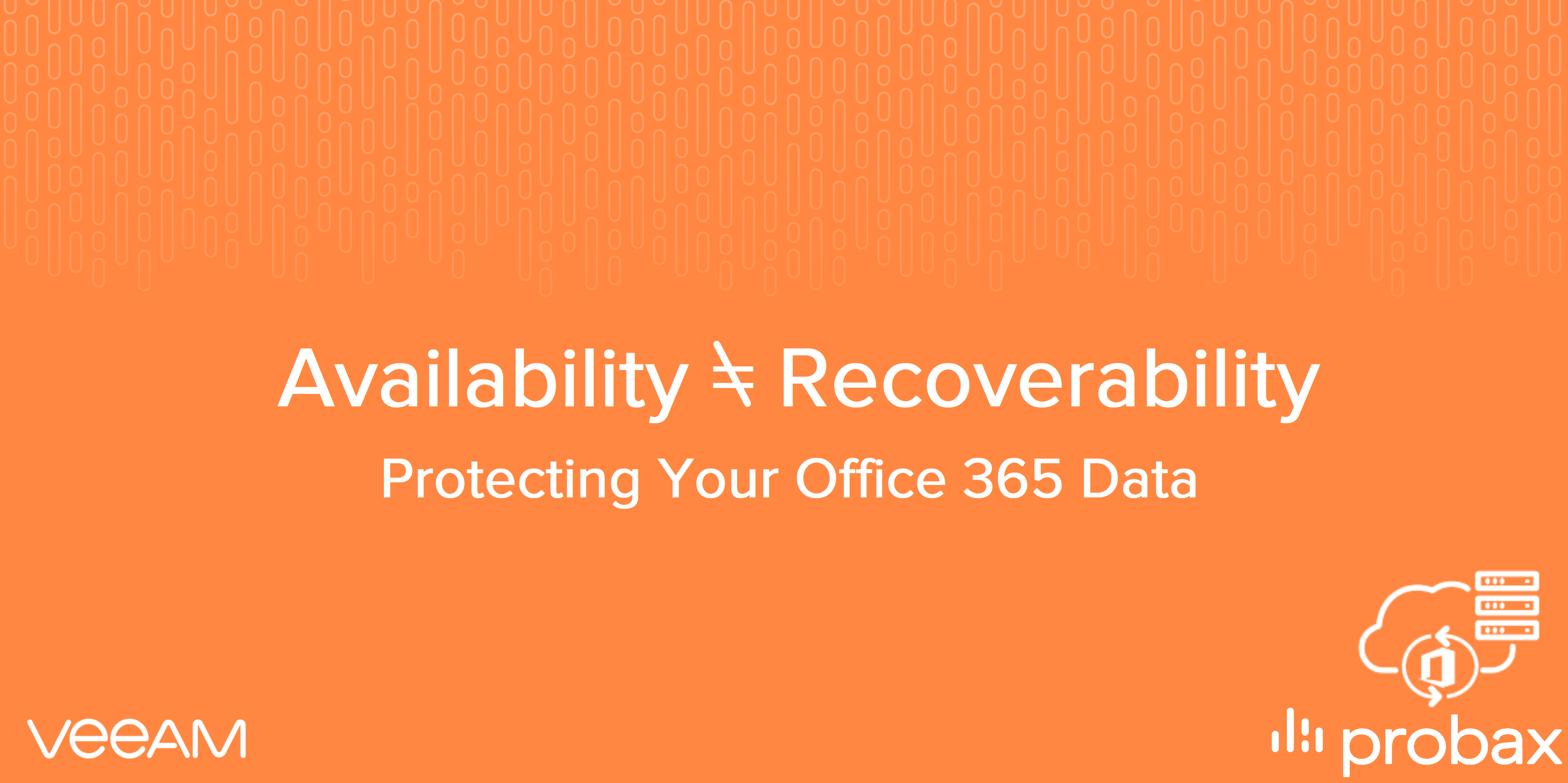 Availability vs  Recoverability - Why You Need to Backup